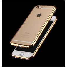 TPU Silicone Protective Case For iPhone 5 5S SE - Gold